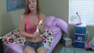 Sexy Redheaded Teen on Dildo Tutorials