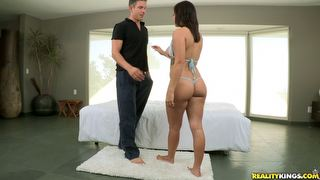 monstercurves Keisha Grey joins us to show off her Monster Curves. Her plump  juicy ass and tits make it hard for Mick to keep his hands off. Keisha rides and MIck pounds away for a minute before filling her mouth with cum that Keisha gratefully gobbles down.