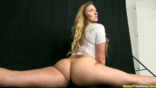 monstercurves Layna is a curvy and flexible model. Austin's switching careers from model to photographer. Layna thinks that's a shame. She calls him out. Austin answers with his cock in her face. Lana stands her ground  sucking and fucking till he explodes in her face.