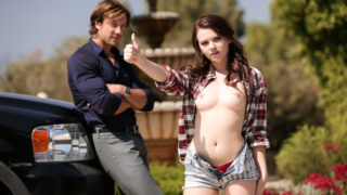 Jean Val Jean,Karlie Brooks - Naughty Karlie hitchhikes with a stranger then gets fucked.