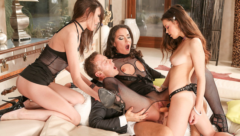Rocco's Orgy With Three Psycho Teens