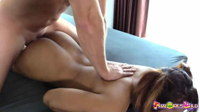 Thai hooker with perky boobs and an amazing bubble butt gets her pussy fucked and filled in a sexy new video