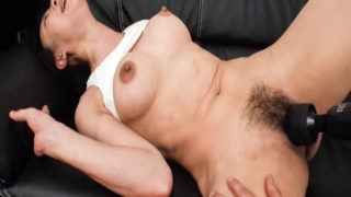 HairyAV Miho Wakabayashi bends over for a pussy toying that leaves her soaking