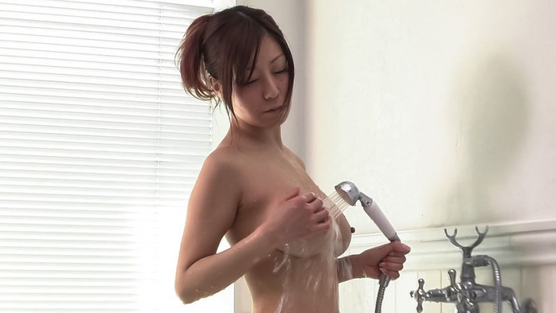 JAVHD Passionate Chihiro Akino plays with her big tits and pussy