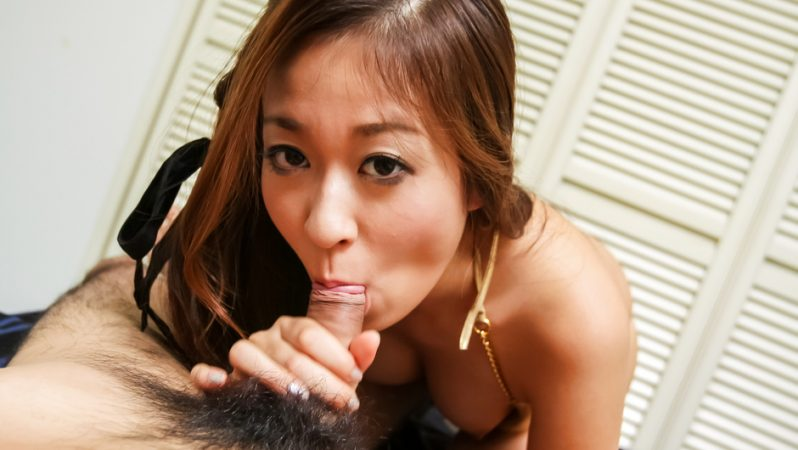 Ferame Risa Misaki makes magic on cock with her warm lips