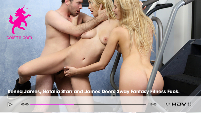 Colette Kenna James 3way Fantasy Fitness Fuck with Natalia