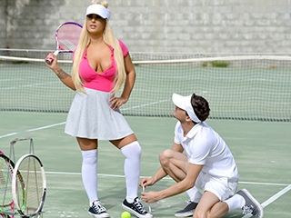 Teens Love Anal Brandi Bae - Rogue Tennis Ball Produces An Anal Racket